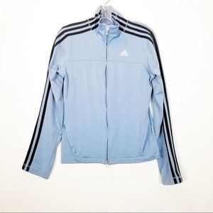 Adidas powder blue zip up jacket